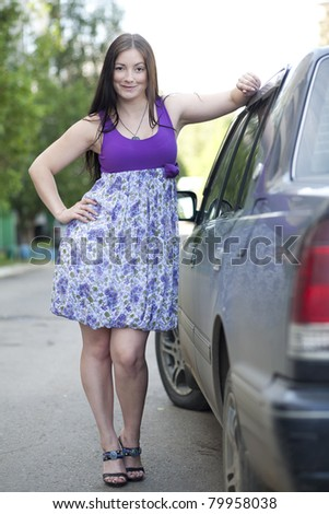 woman near to the car.