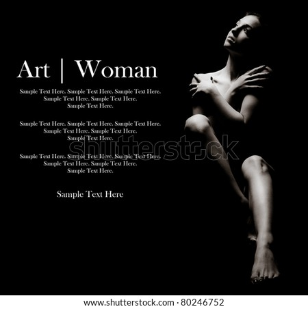 Woman of Art with Text Space to the Left