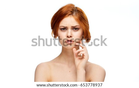 Woman on isolated background                                #653778937