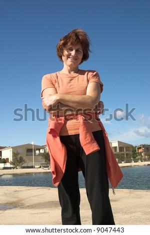 woman on sun