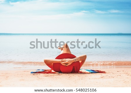 Stock Photo Woman on the beach