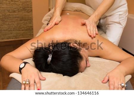 Woman on the massage
