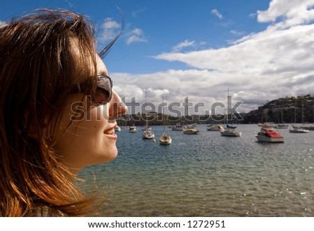 Woman on the shore