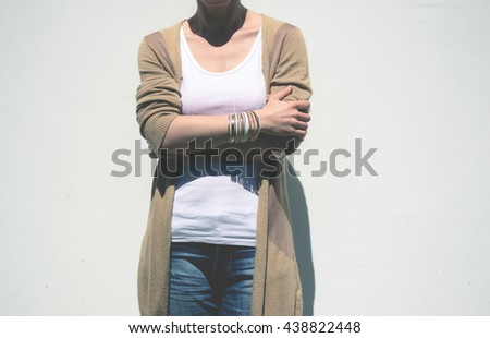 Woman on white background #438822448