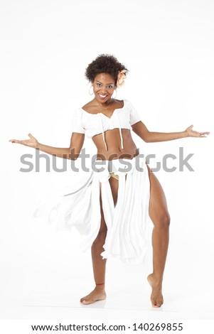 Woman performing Afrodance Stock fotó ©