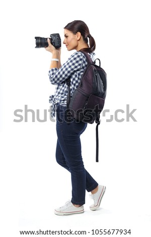 Woman photographer at work