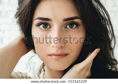 Woman portrait natural beautiful casual beautiful people