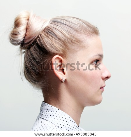 free photos girl profile face woman profile on gray avopix com