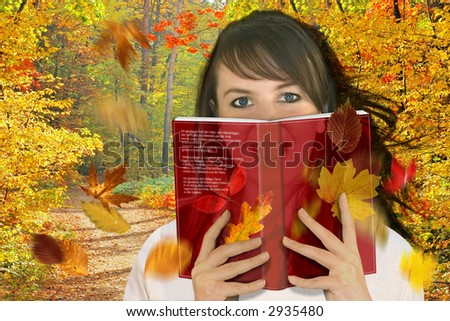 Woman reading a book / fantasy