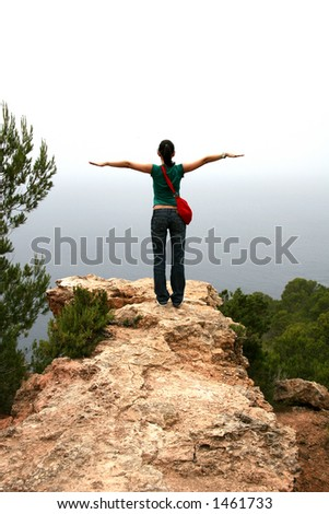 Woman Ready To Fly