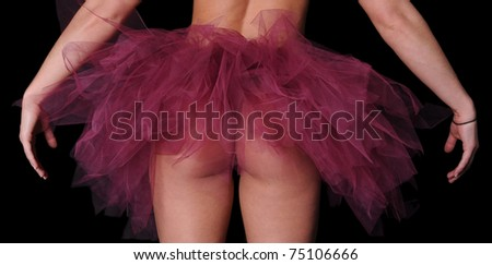 Woman's Backside wearing a Tutu