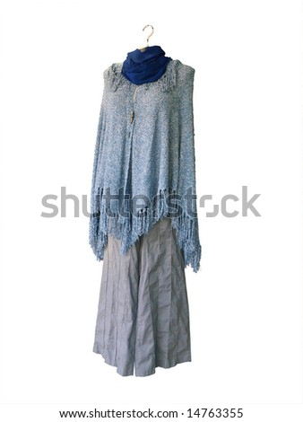 Woman's Clothes Displayed on a Hanger isolated with clipping path