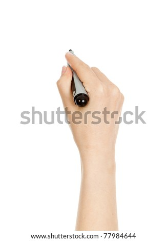 woman's hand holding a marker