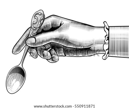 woman's hand with a spoon....