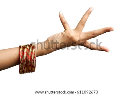 Woman's hand with bangles #611092670