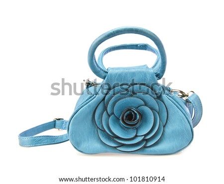 Woman's Handbag in Blue Leather