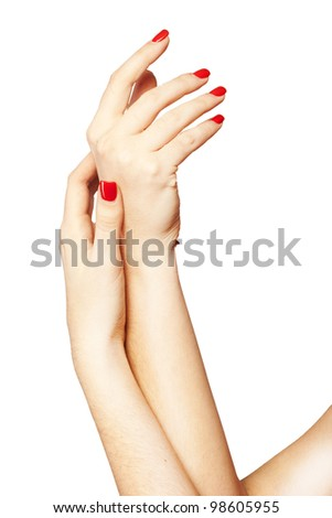 Woman�s hands care