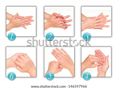 woman's hands, carrying out technique of hygiene with alcohol