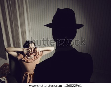 Woman scared of a dangerous man