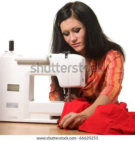 stock photo : Woman seamstress