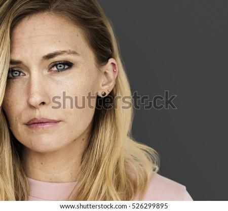 Shutterstock Woman Serious Studio Portrait Concept
