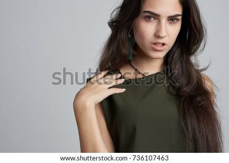 Woman sexy look at the camera
