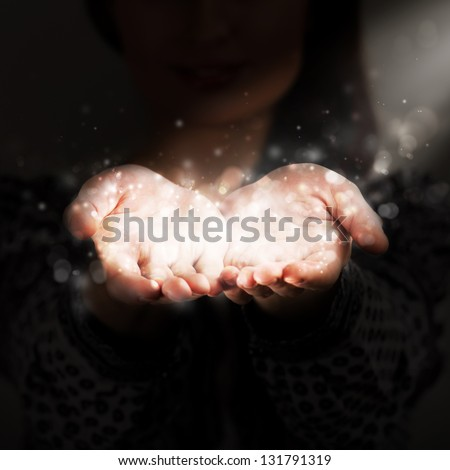 Woman sharing her warmth