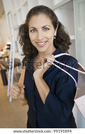 woman shopping in furniture...