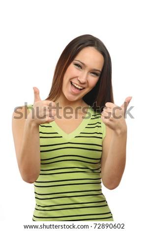 woman showing OK