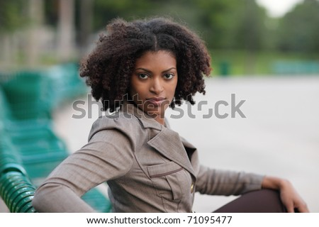 Woman sitting in the park