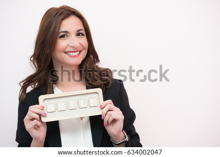 woman smiling Foto stock ©