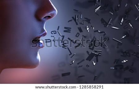Woman speaks letters