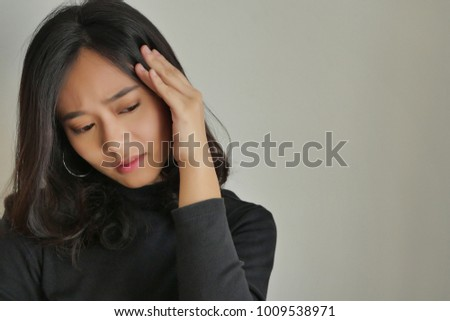 woman suffering from chronic stress, mental illness, depression