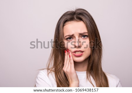 woman suffering from toothache, tooth decay or sensitivity Сток-фото ©