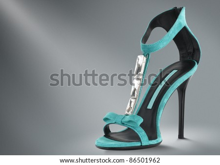 woman summer shoes concept