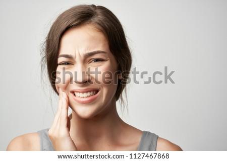 woman teeth hurt tooth decay                              ストックフォト ©
