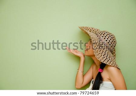 Woman telling a secret