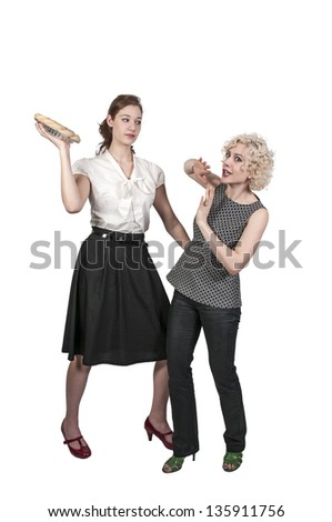 Woman Throwing a Pie