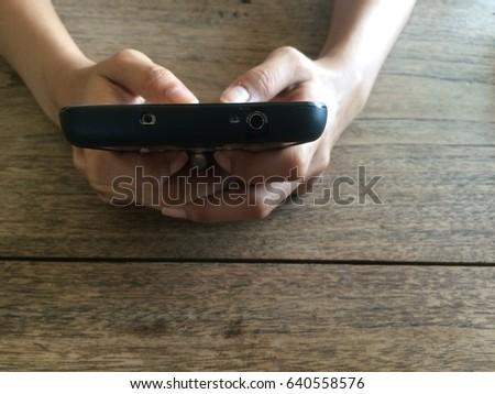 Woman using smart phone #640558576