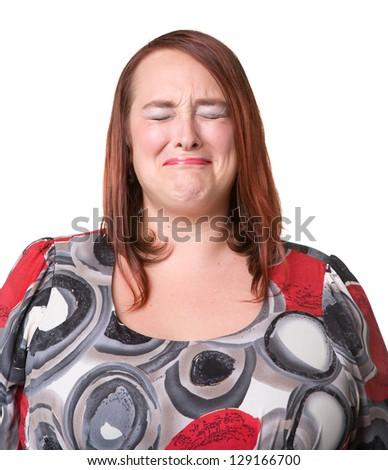 woman very unhappy