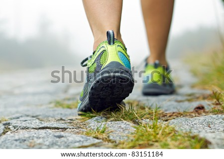 Walking legs, sport and fitness