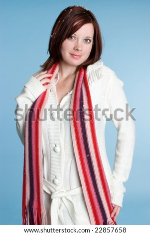 Woman Wearing Scarf