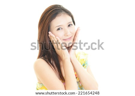Stock Photo Woman who are relaxed
