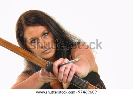Woman with a bow and arrow