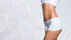 Woman with a perfect slim body, Slimming concept.