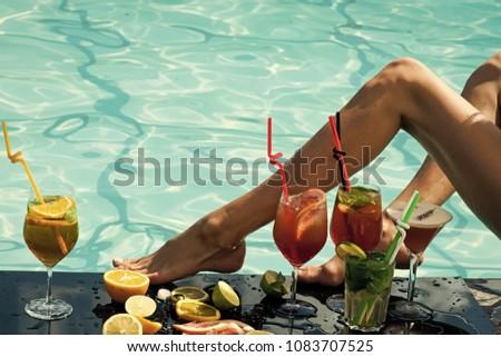 Older women in skimpy bikinis