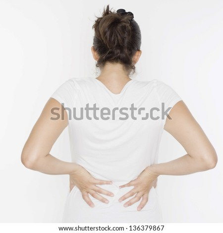 woman with back problems