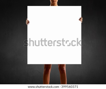 Woman with banner #399560371
