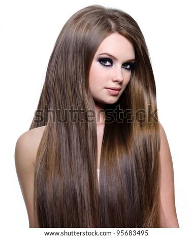 Healthy straight hair