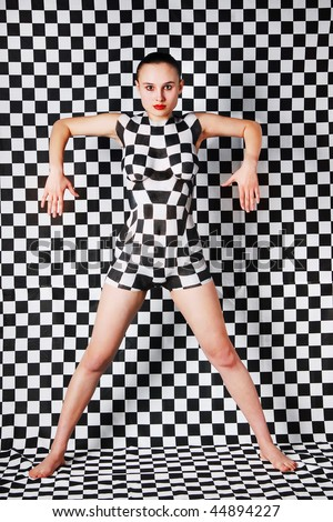 women body art. stock photo : Woman with ody-